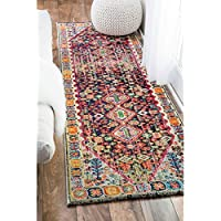 nuLOOM Distressed Traditional Flower Persian Multi Runner Rug (26 x 8)