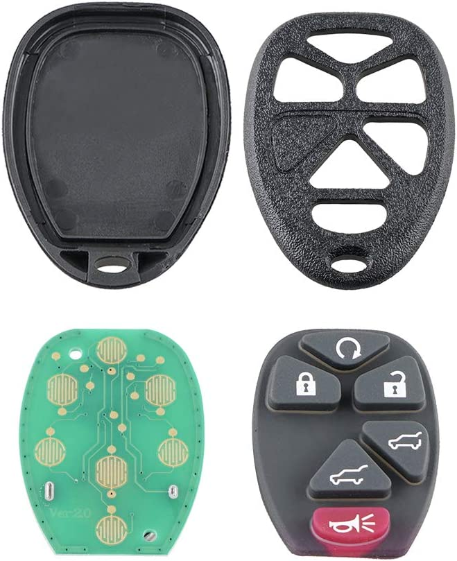 fits Part # 15913427, 20869057, 22756462 2007-2014 Cadillac Escalade 2007-2014 GMC Yukon Car Key Fob Keyless Entry Remote fits 2007-2014 Chevy Tahoe Suburban