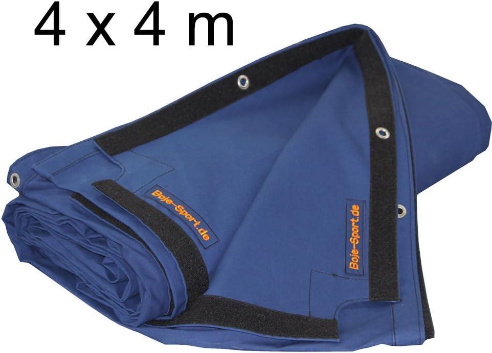 Lona alquitranada ring de boxeo 4 x 4 m - algodón robusto, azul ...