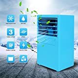 IDABAY Portable Mini Small Air Conditioner Fan Rechargeable Handheld Desktop Table Nightstand Cooling Evaporative Cooler Cooling Mist Humidifier Spray for Travel Walking Fishing Car Riding Camping.