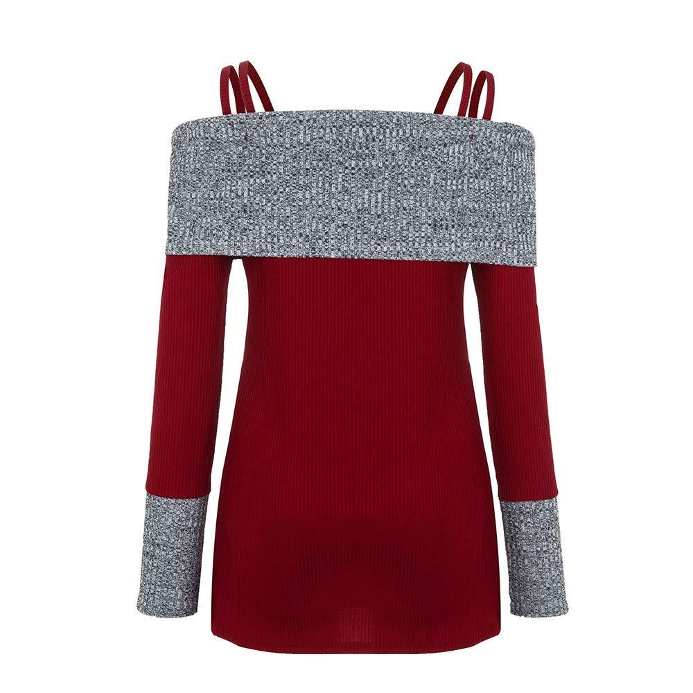 Dimanul T Shirts Women T-Shirts Loose Ladder Cut Out High Waist T-Shirt Tops Blouse Plus Size Long Sleeve