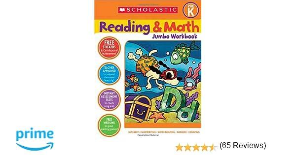 Amazon.com: Scholastic Pre-K Reading & Math Jumbo Workbook ...