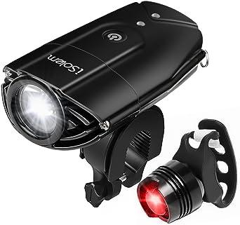 Kit de alumbrado LED para bicicleta iSolem recargable, impermeable ...