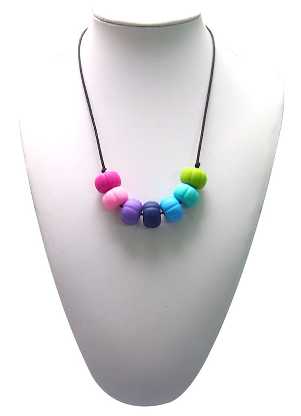 Silli Me Jewels: Bodacious Beads - Teething Nursing Necklace with Multi-Colored Beads for Mom to Wear and Baby to Chew by Silli Me   B00L726M34