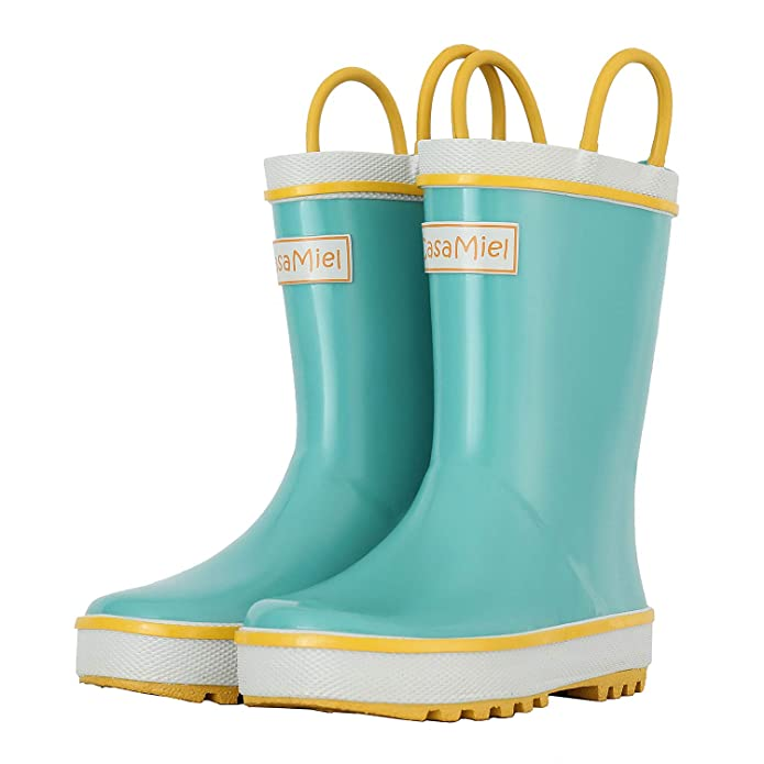 CasaMiel Kids Rain Boots for Boys Toddler Rain Boots for Girls