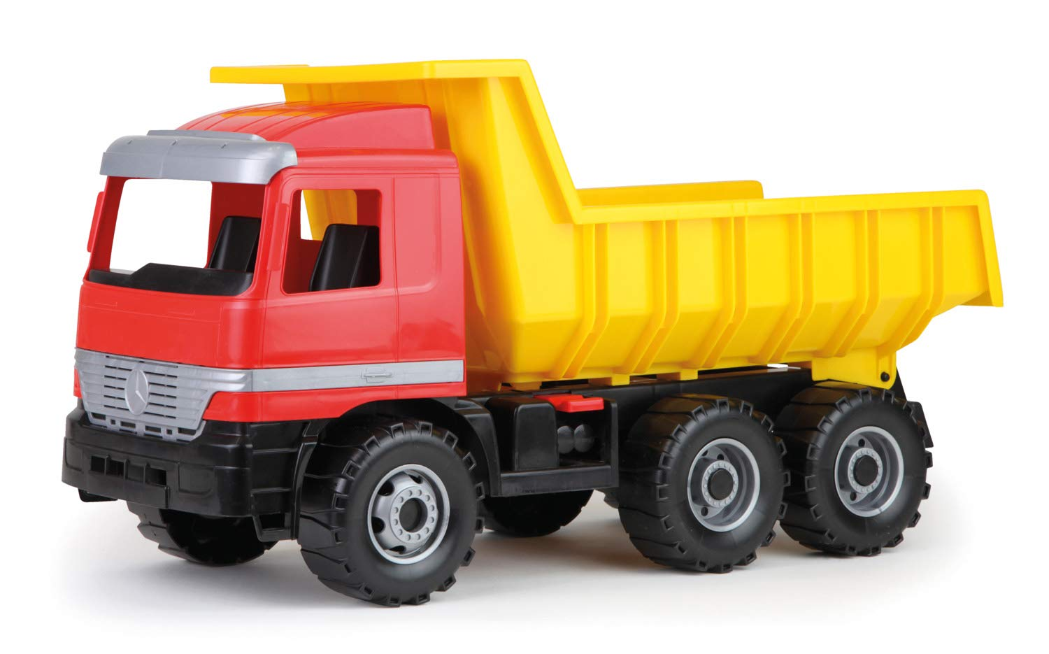 Lena 02166 - Strong Giant Garbage Truck, Orange Gray, about 72 cm