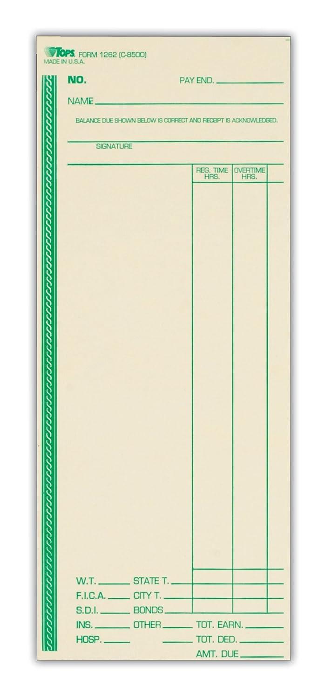 Tops Zeit Karten, wöchentlich, einseitig, 3–3 20,3 cm X 8–1 10,2 cm Manila, Grün Print, 500-count (1262) B0008GPNB2 | Viele Stile