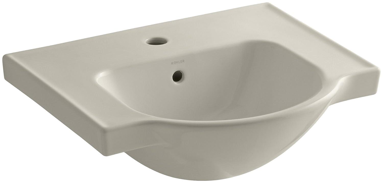 21-Inch KOHLER K-5247-1-33 Veer Single-Hole Sink Basin Mexican Sand