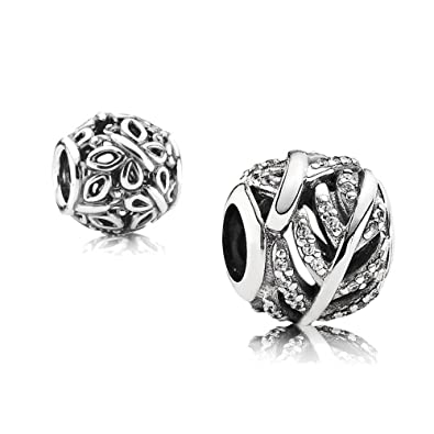3022aed04 Original Pandora Element Gift Set 1–Pavé Clear Feather Silver with Zirconia  and 1 791186CZ