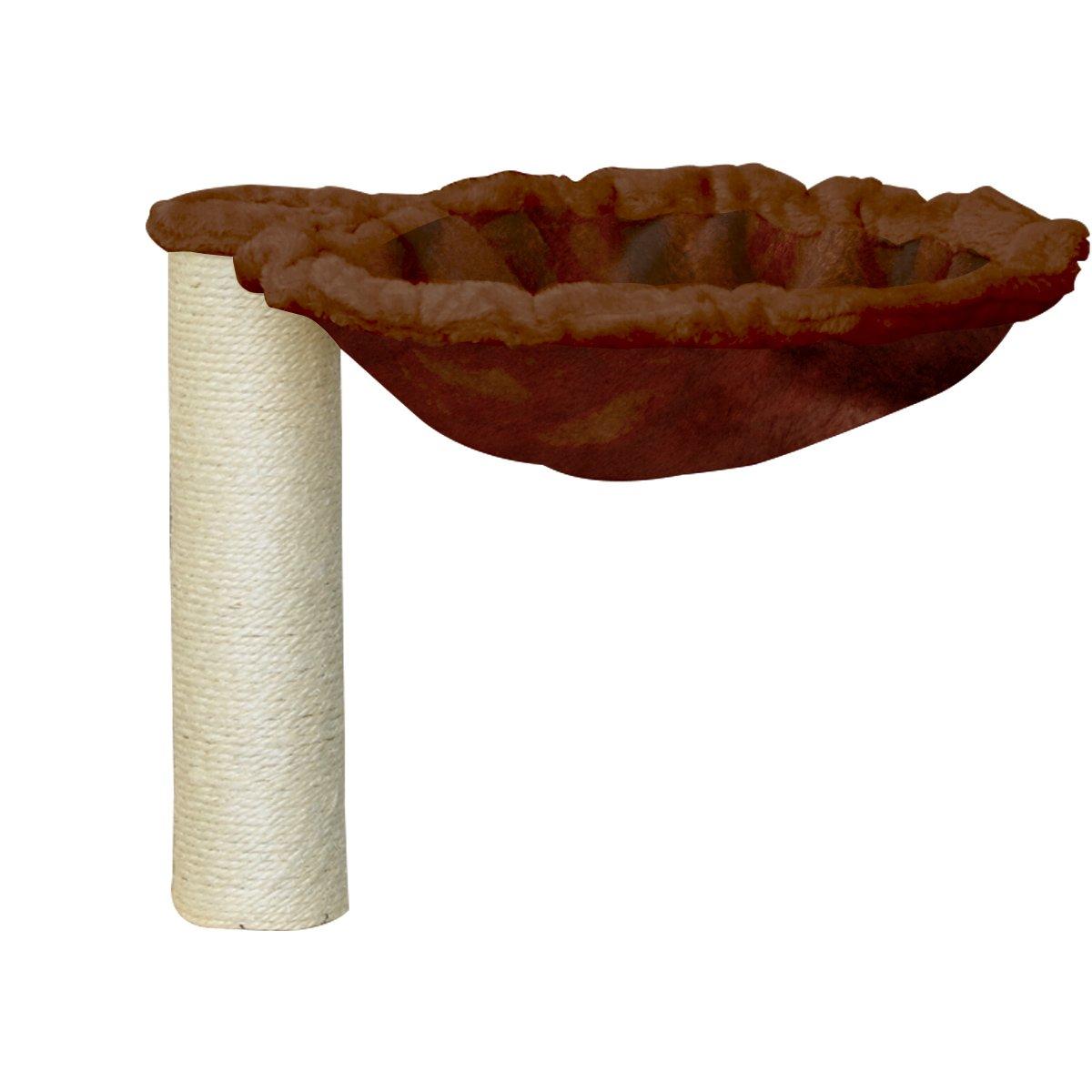 Ottostyle.jp cat tower   cat shelf for the post with hammock set 34cm (diameter 8cm) cord wound Brown  Cat Shelf  corresponding