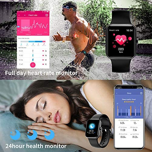 Smart Watch for Men Women,Fitness Tracker with 1.54″ Full Touch Color Screen ,IP67 Waterproof Pedometer Smartwatch with Pedometer Heart Rate Monitor Sleep Tracker for Android and iOS Phones 61o0EfJgDnL