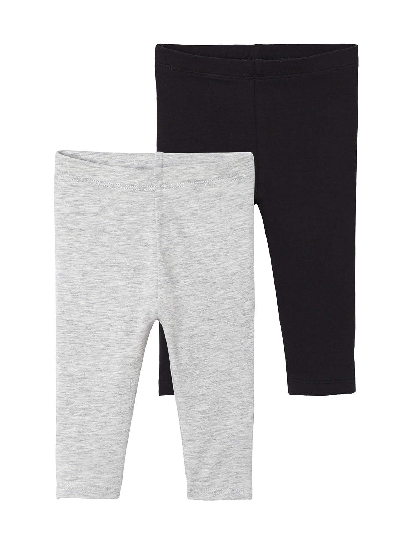 VERTBAUDET Lote de 2 leggings largos para beb/é ni/ña NEGRO OSCURO BICOLOR//MULTICOLO 3M