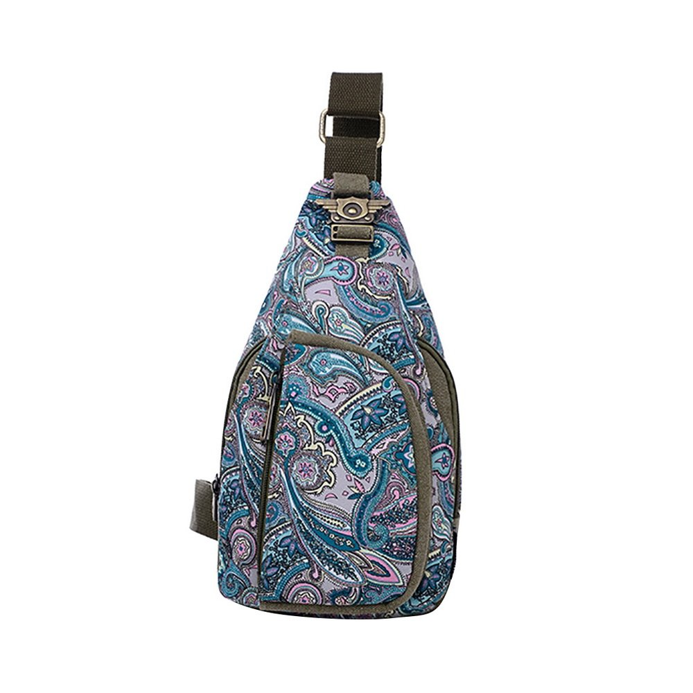 466be6fc350c chic Heflashor Outdoor Sports Casual Canvas Floral Crossbody Sling ...