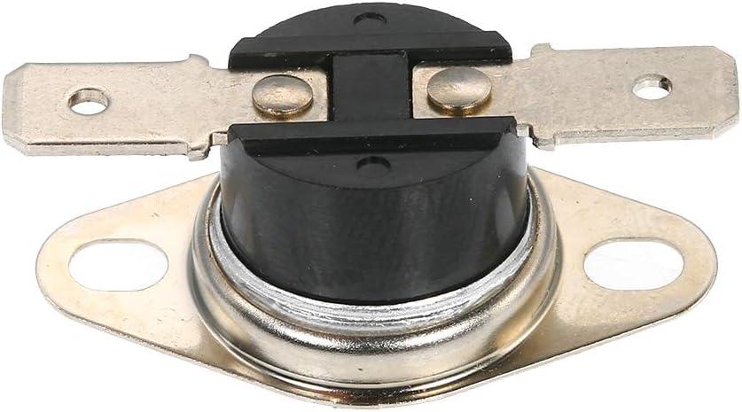 Leepesx 5pcs KSD301 Thermostat Interrupteur De Temp/érature 250 V 10A NO Normalement Ouvert Interrupteur Contr/ôle Thermique Paquet de 5pcs Snap Disc Limit Interrupteur Contr/ôle Thermique pour Appareils