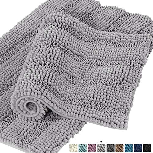- Turquoize Chenille Fabric Microfiber Soft Shaggy Non-Slip Bath Runners for Bathroom Machine-Washable,Super Water Absorbent,Soft Microfibers Rugs for Home Decor, Size 20