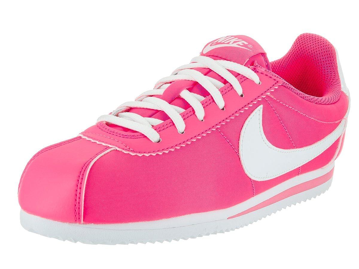 new style 896d7 2d1ca Nike Kids Cortez Nylon (GS) Hyper Pink/White Casual Shoe