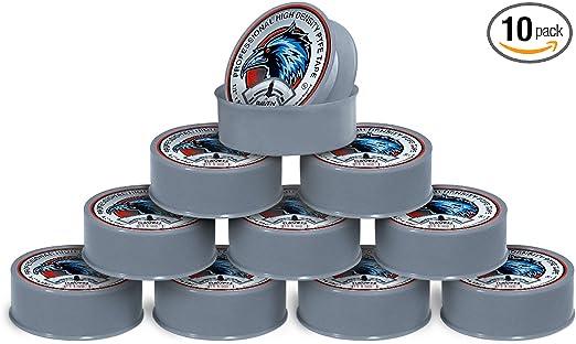 x 520 in. White 1//2 in Raven TTC12520 PTFE Thread Seal Tape Professional Grade