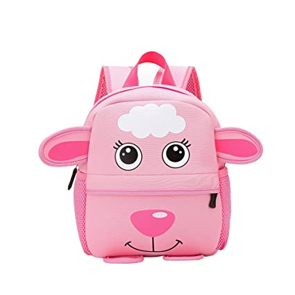 Amazon.com  ZHWKY Kids Baby Schoolbag Zoo Toddler Cute Cartoon Animal  Backpack for Boys Girls Shoulder Bag Squirrel (Goat)  Kitchen   Dining ef08fb98614cf