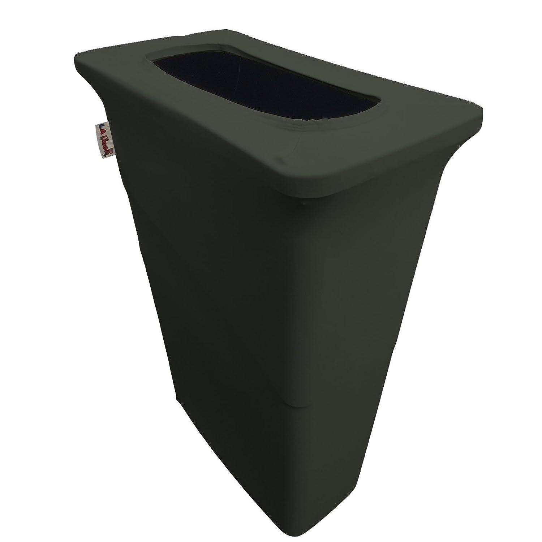 LA Linen Stretch Spandex Trash Can Cover for Slim Jim 23-Gallon Yellow