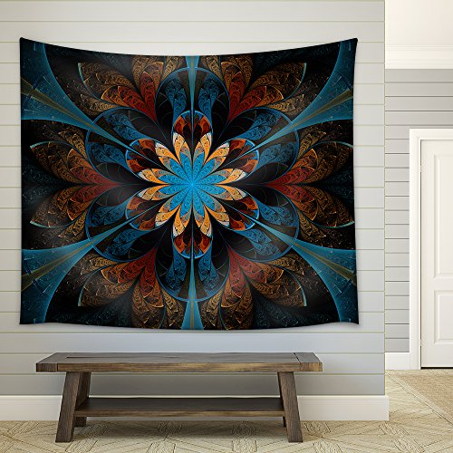 Abstract Flower Fabric Wall