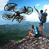 Inverlee X191 Wifi FPV 200P HD Camera 2.4G Remote Control GPS Quadcopter Global Drone,Great Xmas Gift (Black)