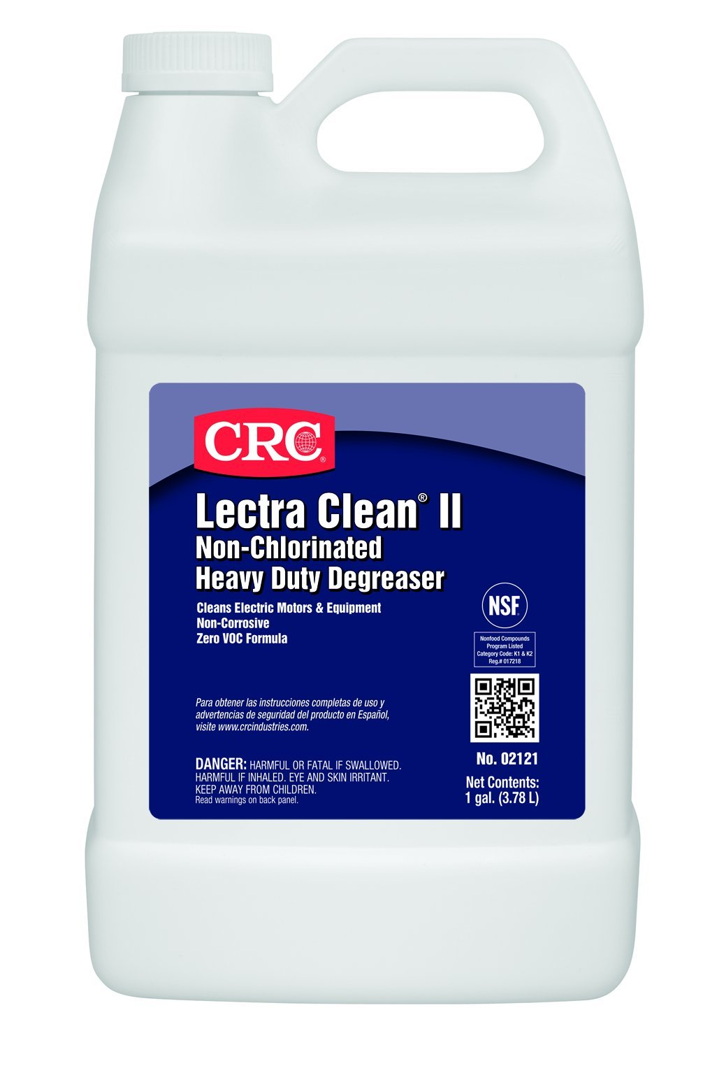 CRC Lectra Clean II Non-Chlorinated Heavy Duty Liquid Degreaser, 1 Gallon Bottle, Clear by CRC