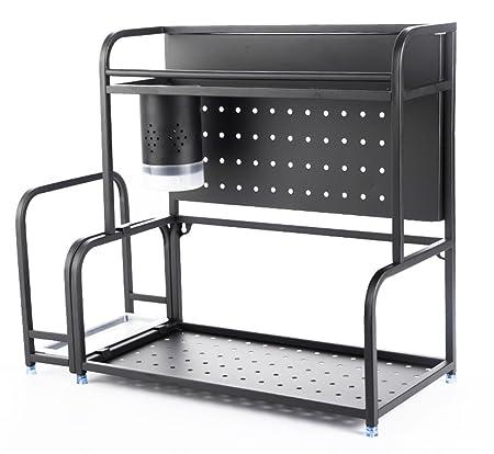 SGMYMX Horno microondas Estante de Cocina, Piso de Acero ...