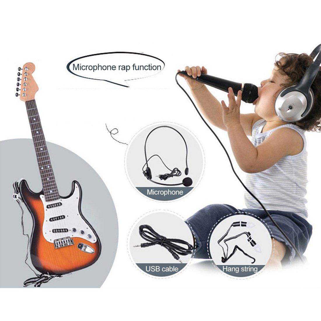 YAHAMA Guitare Enfant Jouet Euitare Micro Enfant Guitare Electrique Enfant 3 Ans
