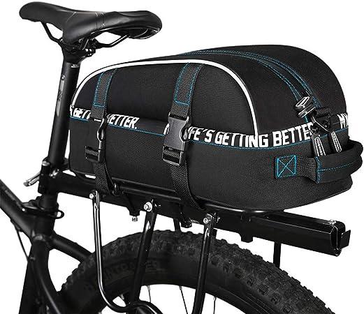 Rawall-bik Bolsa de Bicicleta Alforja para Maletero de Bicicleta, Alforja de Asiento Trasero de Bicicleta de Gran Capacidad para Ciclismo Ideal para Montar al Aire Libre.: Amazon.es: Hogar