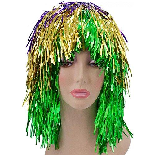 Mardi Gras Tinsel Wig (Boolala Mardi Gras Tinsel Wig)