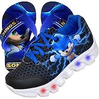 Tenis Masculino De Led Sonic Personagem Luzinha + Chinelo