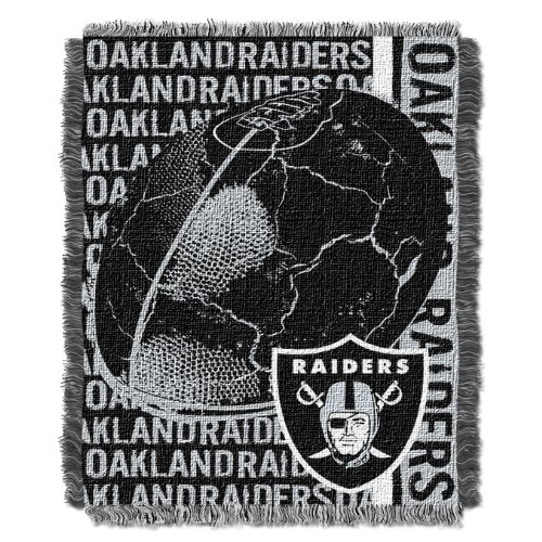 Oakland Throw Raiders - The Northwest Company Officially Licensed NFL Oakland Raiders Double Play Jacquard Throw Blanket, 48