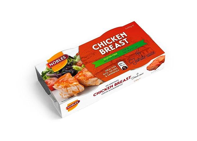 Nobles Pechuga de Pollo en Salsa de Tomate Healthy Canned Chicken Breast in Tomato Sauce Ready