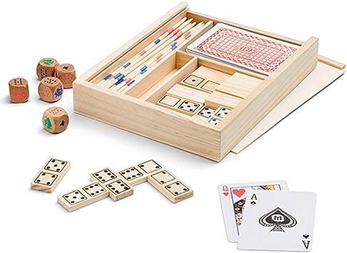 Partituki Caja de Juegos de Mesa 4 en 1: Dominó, Palillos Chinos ...