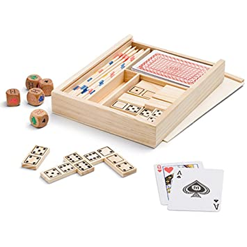 Partituki Caja De Juegos De Mesa 4 En 1 Domino Palillos Chinos