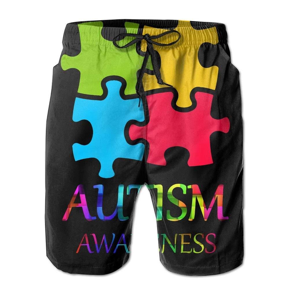 Autism Awareness Mens Summer Swim Board Shorts