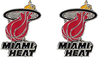 Amazon Com Nba Miami Heat Logo Post Earrings Sports Outdoors
