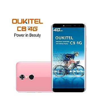 Oukitel C8 4G Smartphone (18:9Pantalla HD) 5,5 pulgadas, 3000mAh ...