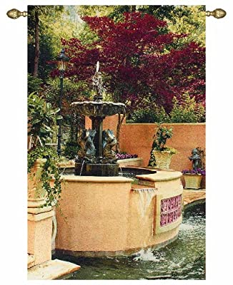Manual 45 X 70-Inch Grande Tapestry Wall Hanging X Artist Vail Oxley, Tranquil Fountain