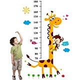 Cartoon Giraffe Kids Growth Chart Height Measure For Home/kids Rooms Diy Wall Stickers Am805