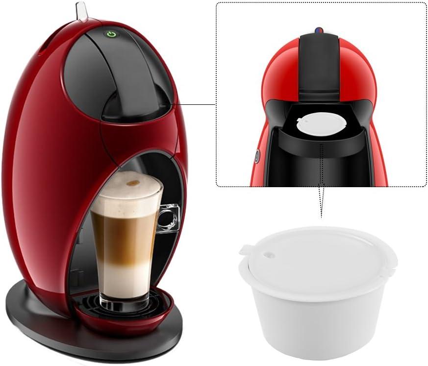 Capsulas Dolce Gusto Recargables, SUNJULY 3PCS Filtros reutilizables Compatibles Para Illy Cafetera para Nescafé Genio Piccolo Esperta Circolo (3 colores): Amazon.es: Hogar