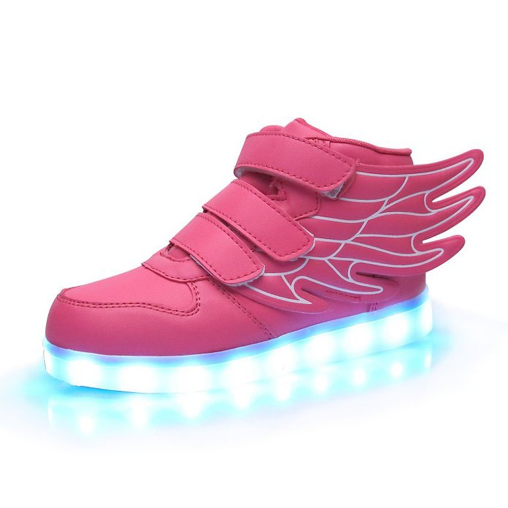 Luckfugui Little Big Kid boy girl USB Flashing LED Shoes Sneaker PK35