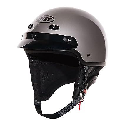 Amazon Com Custom Bilt Falcon Motorcycle Half Helmet Xl Pearl