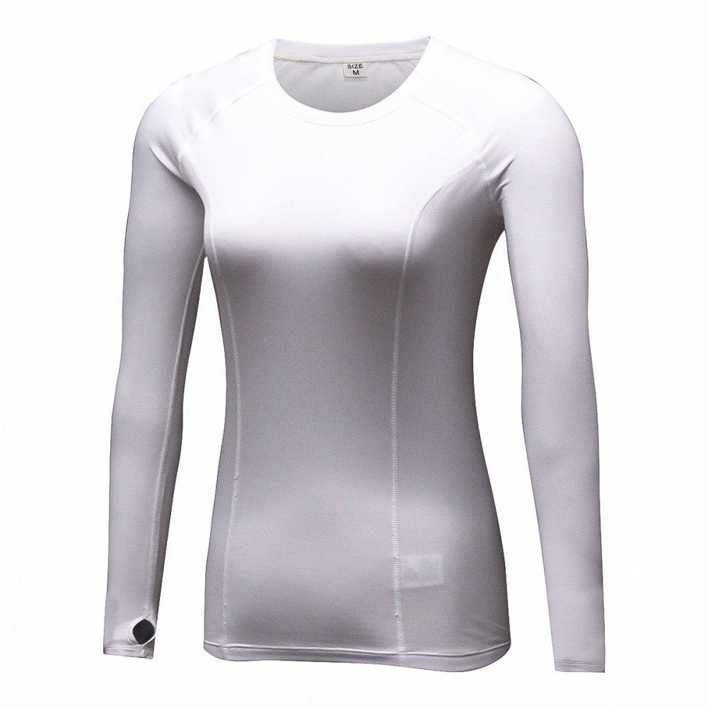 Hankyky Women's Compression Quick Dry Long Sleeve Cashmere Sport T-Shirt, Yoga Jogging Workout Slim Fit Tank Tops
