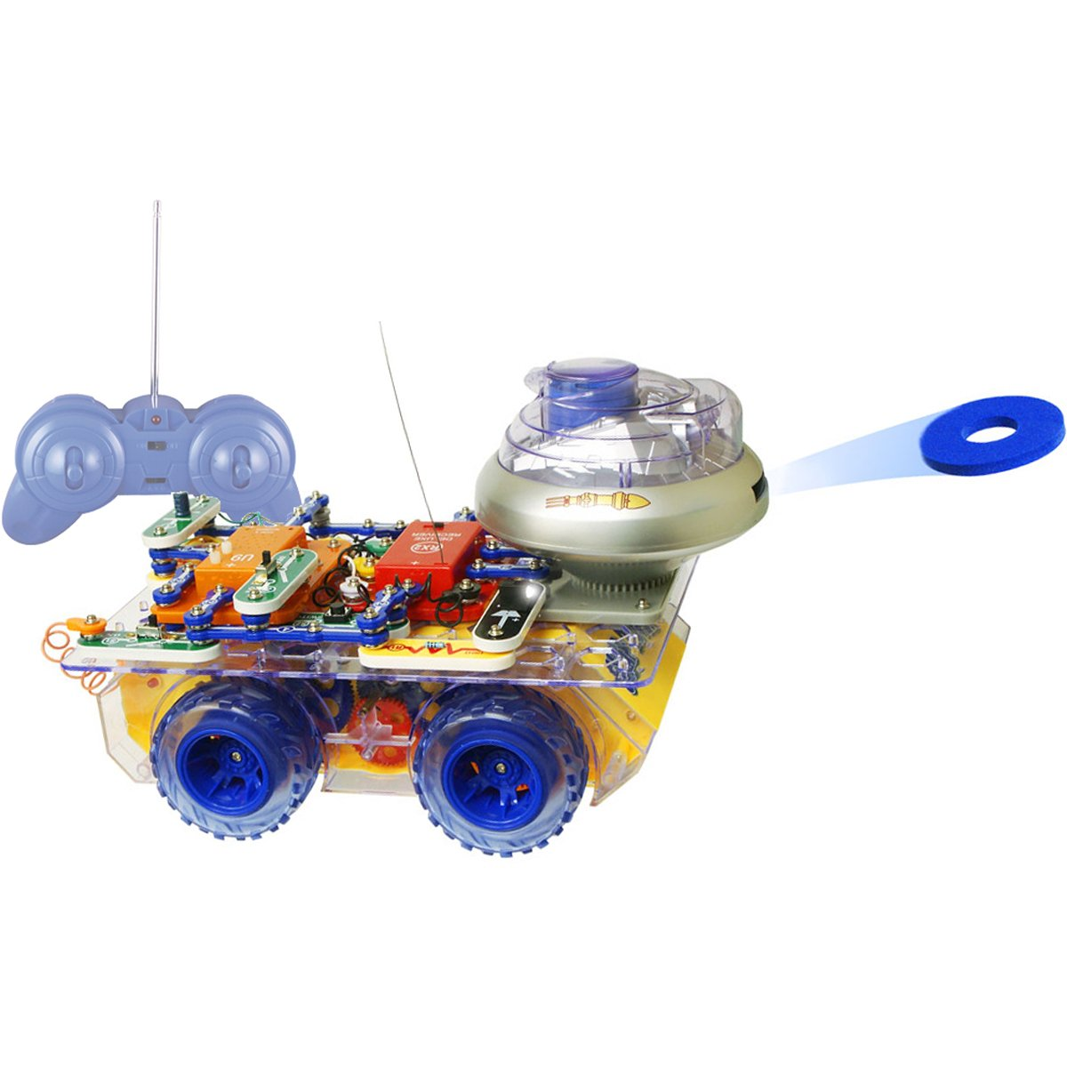 amazoncom snap circuits deluxe r c snap rover electronics