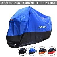 SMARCY® Housse Bâche pour Moto Scooter Taille XL Couleur Bleu et Noir