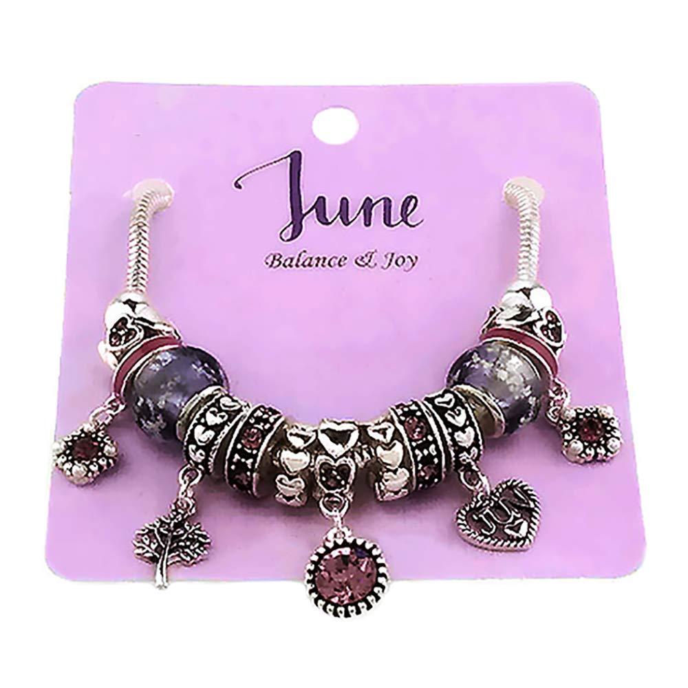 Emulily Birthstones Inspirational Birthday Gifts Month Birthday Stone Charms Bracelet Multi Beads . EMOB07234ASAPR
