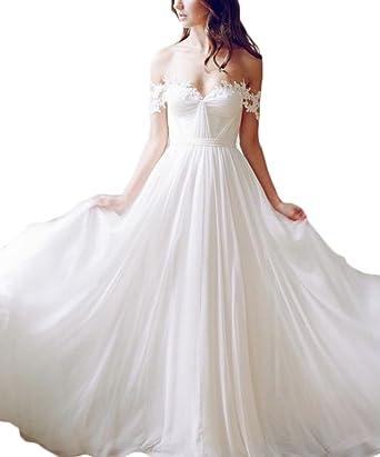 Ri Yun Women\'s Off Shoulder A Line Wedding Dresses Bride Gown ...