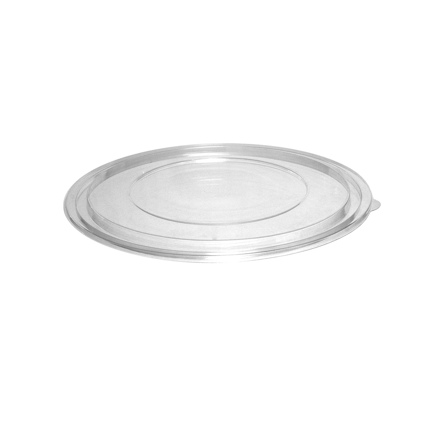 Party Essentials 8024L Lid for Soft Plastic 80-Ounce Bowl, Clear (Case of 24)