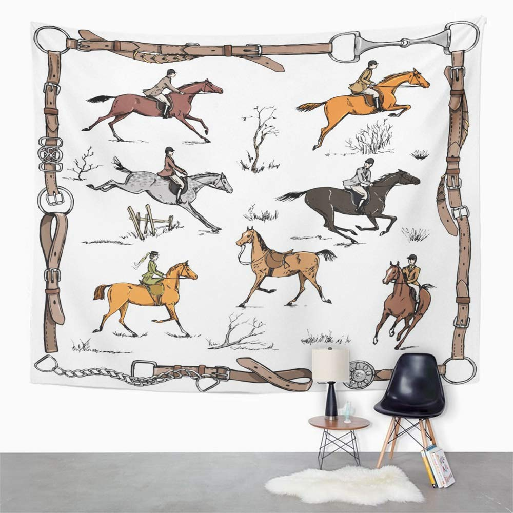 WALL ART ADVICE FROM A HORSE TAPESTRY WALL HANGING EQUESTRIAN DECOR